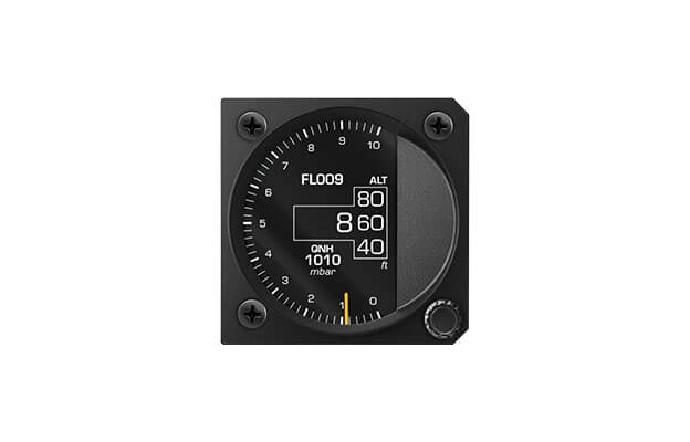 57 mm iris series digital Altimeter instrument for ultralight aircraft with flight level and QNH baro