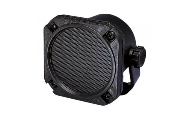 Black audio speaker for sailplanes and aircraft