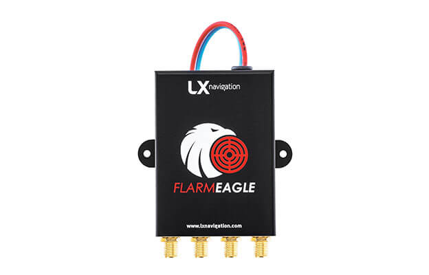 Flarm collision avoidance device Flarm Eagle frontal shot with SMA connectors