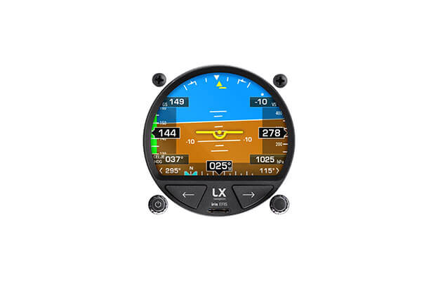 57 mm PFD instrument iris EFIS for ultralight aircraft with AHRS display