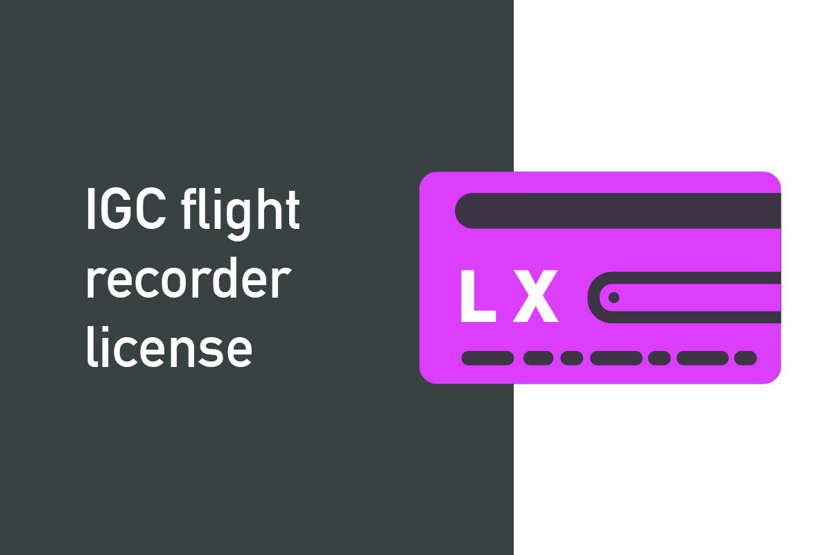 IGC flight recorder license