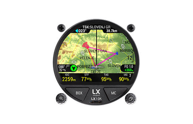 80 mm vario navigation system with navigation, terrain maps, airspace and more.