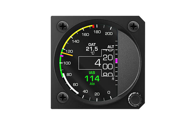 80 mm iris series digital All in one instrument for ultralight aircraft with Altimeter, Airspeed indicator and Vertical speed indicator and OAT