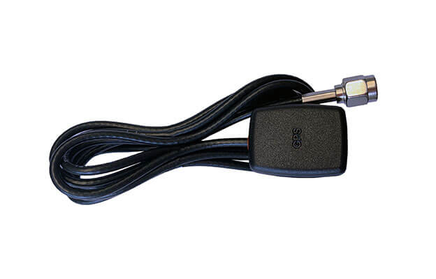 Black GPS antenna with 2m cable and SMA female connector