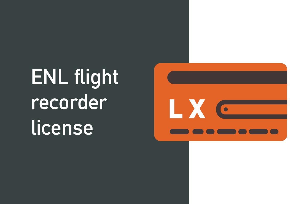 ENL flight recorder license