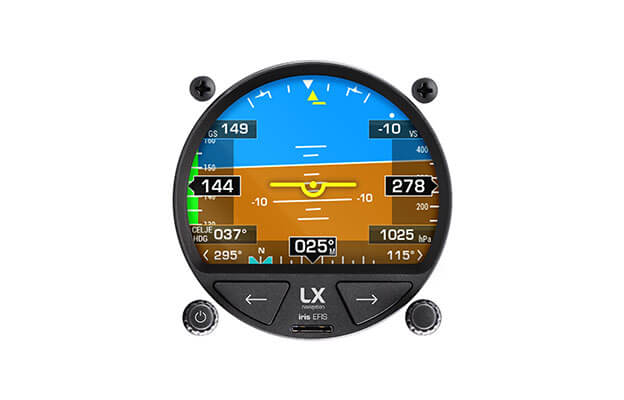 80 mm PFD instrument iris EFIS for ultralight aircraft with AHRS display