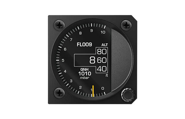 80 mm iris series digital Altimeter instrument for ultralight aircraft with flight level and QNH baro